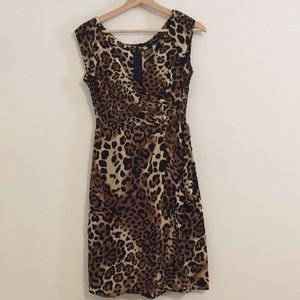 Nanette Lepore Leopard Print Silk Dress size 2
